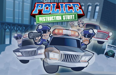 Police Destruction Street